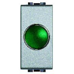 Témoin lumineux Livinglight - Diffuseur vert - Tech - 1 module