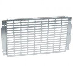 Platine universelle perforée - pour coffrets et armoires XL³ 400 - H 300 mm