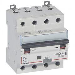 Disj diff DX³ 6000 -vis/vis- 4P 400V~ -20A - type A 300mA-10 kA- courbe C - 4M