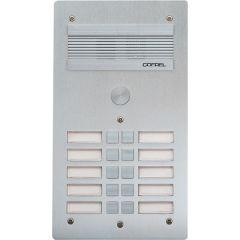 Platine de rue Série 300 audio - façade Alu 4 mm - 10 appels