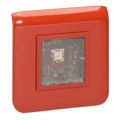 Diffuseur lumineux Mosaic pr alarme incendie - saillie - 2mod - 14 à 16 mA - LED