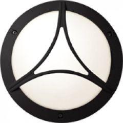 Hublot Chartres rond jupe a grille taille 1 noir E27 / 75W