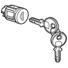 Barillet à clé type 405 - pour porte métal ou vitrée XL³ - avec 1 jeu 2 clés