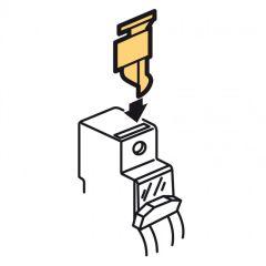 Cache-vis plombable DX³ - 1,5 mod/pôle - 4 pôles sécables - pour disj DX³