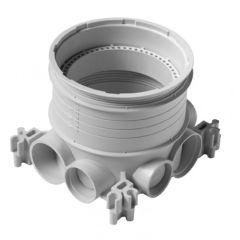 Boîte d'encastrement simple multimatériaux pour sols - haut. 50 à 80 mm