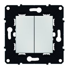Double va-et-vient Espace Evolution 10 AX - 250 V~ - Blanc