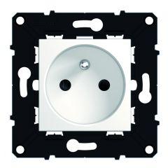 Prise 2P+T bornes auto -éclips de protection-lot chantier x50 -Espace Evo -Blanc