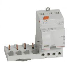 Bloc diff adapt DX³-vis-4P-400V~-63A-typeAC-30mA-disj 1mod/pôle-câbl trad