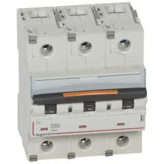 Disj DX³-vis/vis-3P-400V~-80A-25kA-courbe D - 4,5M