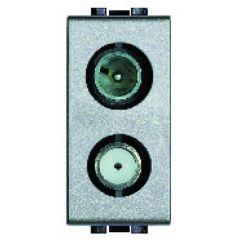 Prise TV-SAT étoile blindée Livinglight -  Tech - 1 module