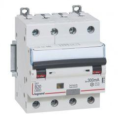 Disj diff DX³ 6000 -vis- 4P 400V~ -20 A - type AC 300mA -10kA- courbe B - 4M