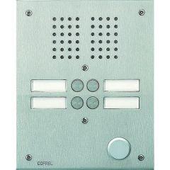 Platine de rue Série 100 audio - façade Inox 2,5 mm - 4 appels