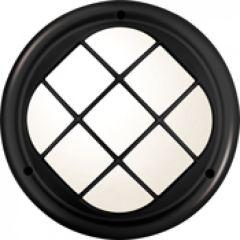 Hublot Koreo Cub rond grille taille 1 noir E27