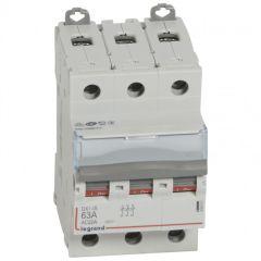 Inter-sectionneur de tête DX³-IS - vis/vis - 3P - 400 V~ - 63 A - 3 M