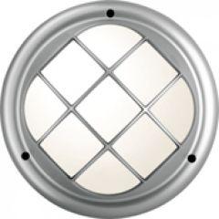 Hublot Koreo Cub rond grille taille 2 gris acier GX24Q3 / 32W