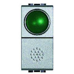 Poussoir à voyant vert 10A - 250V - LivingLight Tech