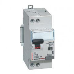 Disj diff DX³ 4500 - vis/vis -U+N 230V~ 10A - typeAC - 30mA - 6kA -courbe C - 2M