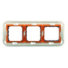 Support monobloc à vis 3 x 2 modules - entraxe 57 mm