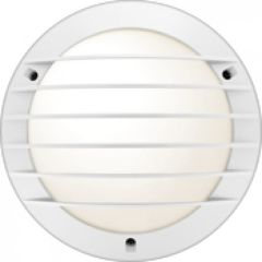 Hublot Chartres rond alu jupe a grille taille 1 blanc E27 / cfli 15W