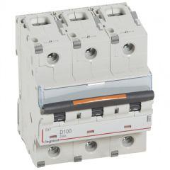 Disj DX³-vis/vis-3P-400V~-100A-25kA-courbe D - 4,5M