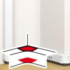 Angle intérieur 80 à 100° - goulotte clip direct Prog Mosaic 50x80 antimicrobien