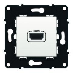 Prise Audio/vidéo HDMI version 1.4 type A préconnectorisée - Espace Evo - Blanc