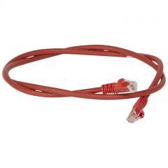 Cordon de brassage RJ45 - Cat.6 - U/UTP sans écran - L. 1 m - LSOH -rouge - LCS²