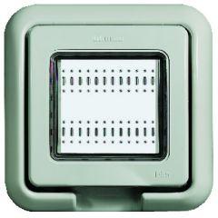 Support-plaque IP55 Idrobox - couleur Gris RAL 7035