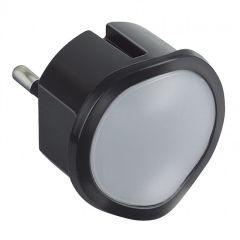Veilleuse lampe torche avec batterie - LED haute luminosité - noir