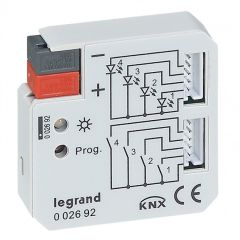 Interface encastrée BUS/KNX - contact sec - 4 entrées + 4 sorties