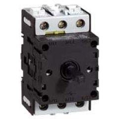 Bloc nu - inter sectionneur rotatif - composable - 3P - 25 A
