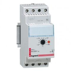 Thermostat d'ambiance de tableau - réglage 3 à 30°C - 2 modules