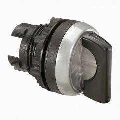 Osmoz compo - bouton tournant lum - manette - 2 posit. fixes - 45° - noir -IP66