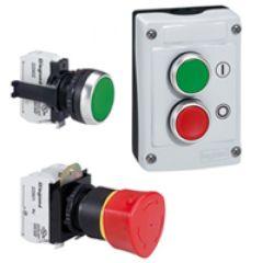 Osmoz compo - bouton tournant lum - manette - 2 posit. fixes - 45° (0à12h) rouge