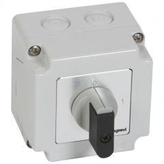 Commutateur - inter marche/arrêt - PR 12 - 4P - 4 contacts - boîtier 76x76 mm