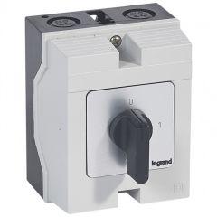 Commutateur - inter marche/arrêt - PR 17 - 2P - 2 contacts - boîtier 96x120 mm