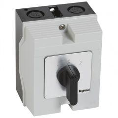 Commutateur - inverseur avec arrêt - PR 17 - 3P - 6 contacts - boîtier 96x120 mm