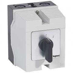 Commutateur - inverseur avec arrêt - PR 26 - 4P - 8 contacts - boîtier 96x120 mm