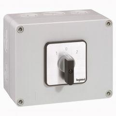 Commutateur - inverseur avec arrêt - PR 40 - 2P - 4 contacts - boîtier 135x70 mm