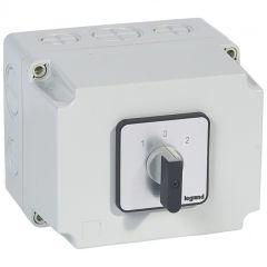 Commutateur - inverseur avec arrêt - PR 40 - 3P - 6 contacts - boîtier 135x70 mm