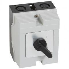 Commutateur - inverseur sans arrêt - PR 12 - 3P - 6 contacts - boîtier 96x120 mm