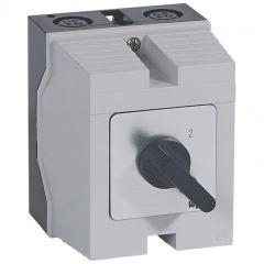 Commutateur - inverseur sans arrêt - PR 12 - 4P - 8 contacts - boîtier 96x120 mm