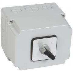 Commutateur - inverseur sans arrêt - PR 63 - 4P - 8 contacts - boîtier 135x170