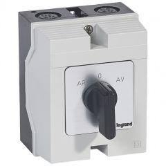 Commutateur moteur triphasé - inverseur 1 vitesse - PR 17 - 5 contacts - boîtier