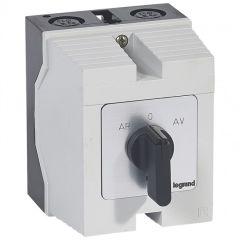 Commutateur moteur triphasé - inverseur 1 vitesse - PR 26 - 5 contacts - boîtier