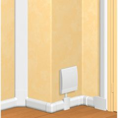 Plinthe DLPlus 120x20 - 2 compartiments - 1 couvercle - L. 2 m - blanc