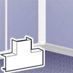 Dérivation en T à plat - pour moulure DLPlus 32x12,5 - blanc