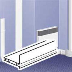 Cloison séparation - pour plinthe DLPlus h. 20 - L. 2 m - blanc