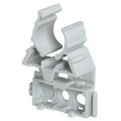 Lyre pour tube IRL Ø20 - gris - fixation par cloueur type Pulsa 700E