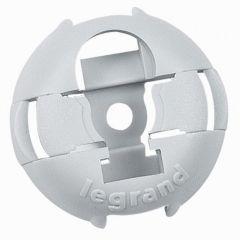 Embase pour collier - fixable par cloueur ou par vis Ø 4 mm - gris RAL 7035